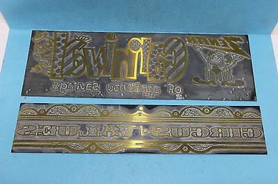 2 Vintage Zenith Advertising Printing Plates -CARNIVAL of Appliance Savings