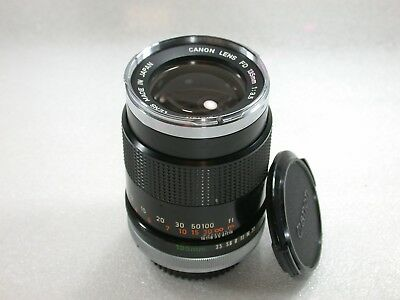 Canon FD 135mm F3.5 Manual Focus Telephoto Lens, Early Chrome Front No. 41276