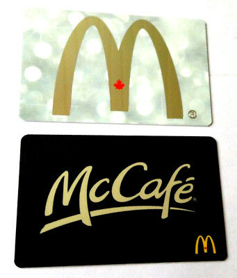2X McDonald red arch + McCafe COLLECTIBLE GIFT CARD CANADA NO VALUE x2