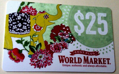 WORLD MARKET COST PLUS Gift Card COLLECTIBLE RECHARGEABLE --0--- BALANCE