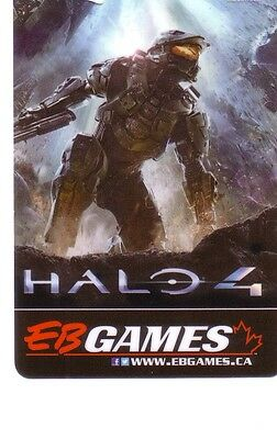 HALO 4 EB GAMES COLLECTIBLE Gift Card New No Value BILINGUAL*