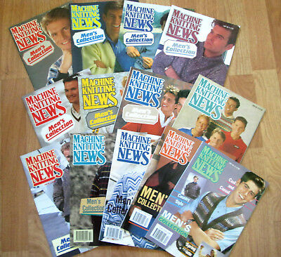Lot of 13 Issues of Machine Knitting News  -MENS COLLECTION 1988-1991