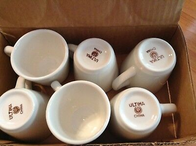Ultima China Restaurant Ware Set Of 6 Coffee Mugs Cups Ivory Diner 7 oz. New