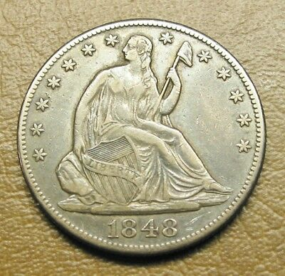 1848-O Liberty Seated Half, Great Early Type