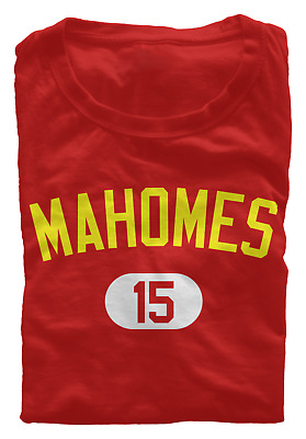 Patrick Mahomes #15 T-Shirt (S-3XL) Kansas City Chiefs Shirsey Regular/Soft NEW