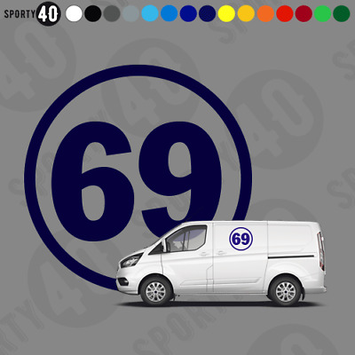 Number Roundel - Vinyl Decal - 5 Large Sizes - Cars Racing Classic 2108-0419