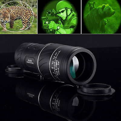 Day Night Vision Telescope 40x60 HD Optical Monocular Hunting Camping For Phone