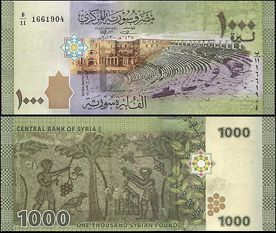 Syria. 1000 Syrian Pounds. 2015 (Unc) Banknote Cat# P.116a
