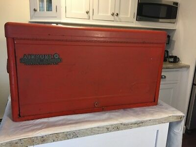 Huot Tool Chest -- Vintage Red Tool Box - 6 Drawer -- Excellent working cond