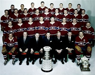 Montreal Canadiens 1965 Stanley Cup Champions 8x10 Photo