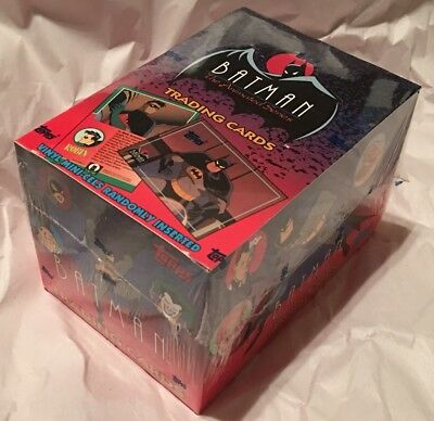 Batman Animated Series Topps series 1 factory sealed box cards 1993