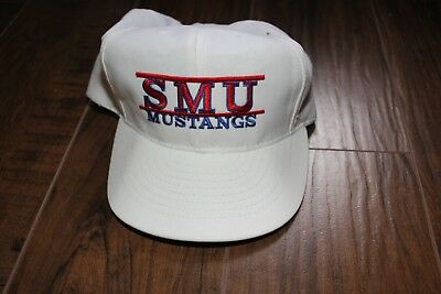 reputable site 4215c 5e41e ... mustangs snapback fit baseball 5ec0a 1613d  purchase white smu hat cap  vintage made in the usa classic southern 356cd 096e5