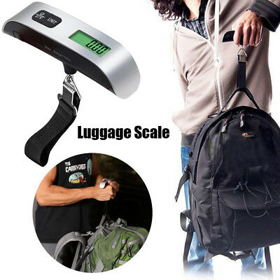 Portable LCD Digital Hanging Luggage Scale Travel Electronic Weight 110lb / 50kg