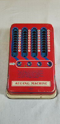 Old 1940s Mechanical Adding Machine Wolverine Vintage Pull Dial Hand Calculator