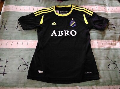 AIK Fotboll Stockholm Home Jersey 2011 to 2012 Childrens Large Adidas Sweden