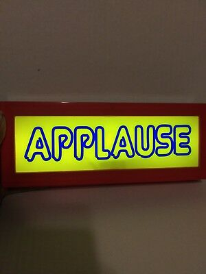 """APPLAUSE Sign / Light Up - 12"""" TV - MOVIES - SITCOM  Battery Operated SHIPS FREE"""