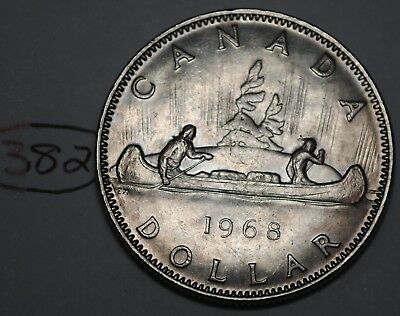 Canada 1968 Nickel Dollar Elizabeth II Canadian Voyageur $1 Lot #382