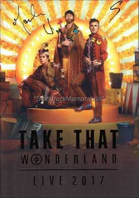 Take That Autographs *Wonderland* Hand Signed Programme