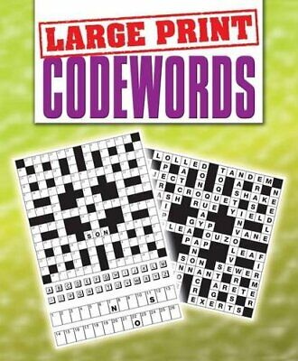 Codewords (Large Print Puzzles) by VARIOUS Paperback Book The Cheap Fast Free