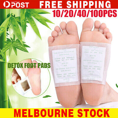 10-400x Detox Foot Patch Pads Natural plant Toxin Removal Sticky Adhesives