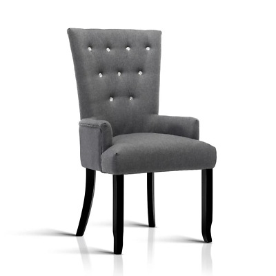 Artiss Cayes French Provincial Dining Chair - Grey