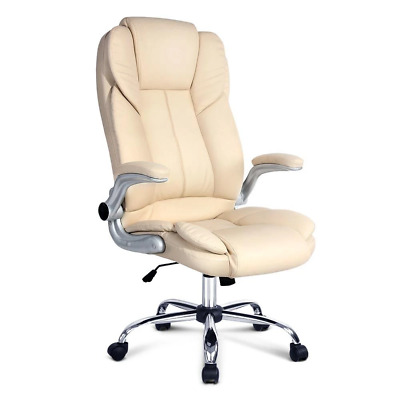 Artiss PU Leather Executive Office Desk Chair - Beige