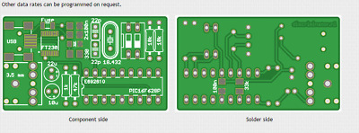 PDW Pager USB Interface Circuit Board Project for PDW Free Australia Post