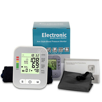 Upper Arm Cuff Blood Pressure Monitor Detection Automatic Power-Off  Big LCD