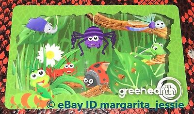 "Green Earth Canada Gift Card ""cute Bugs"" Ladybug Bee Spider No Value New 2018"