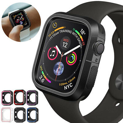 For Apple Watch 4/3/2/1 Silicone TPU Bumper Case Cover iWatch Protector 40/44mm