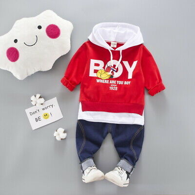 Toddler Baby Boys Clothes Suits Kids Infant Boy Outfits Sets Hoodied + Pants Set