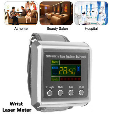 650nm Wrist Laser Therapy Watch Semiconductor hypertension Fat Blood Care Meter