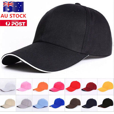 Women Ponytail Cap Messy High Buns Ponycap Adjustable Cotton Baseball Hat AU