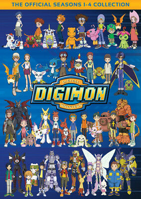 Digimon: Digital Monsters Collection Seasons 1 / 2 / 3 / 4 (32 Disc) DVD NEW