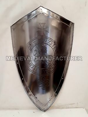 MEDIEVAL-KNIGHT-SHIELD-All-Metal-32-Handcrafted-Battle-Armor-Medieval Shield