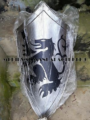 Medieval Dragon Knight Shield All Metal Handcrafted Armor Shield Sca Gift Item