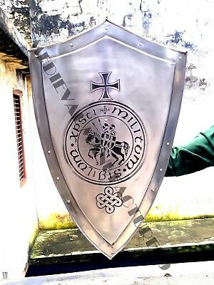 Medieval Knight Shield All Metal Handcrafted Medieval Armour Shield Sca Gift
