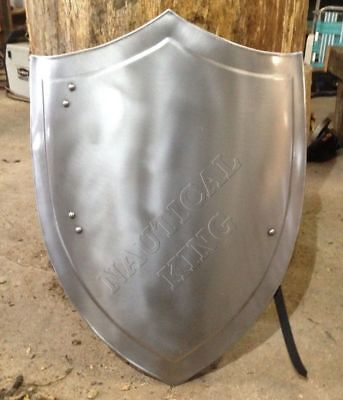 Knight Medieval heater shield SCA LARP WASTER 18g Battle Armor Shield Christmas