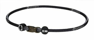 Phiten X30 Titanium Necklace- Denim Black 20'(50cm) From japan