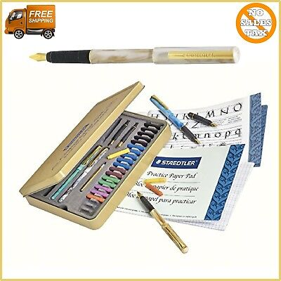 Calligraphy Pen Set Starter Kit Letters Ink Cartridge Practice Pad Included Best
