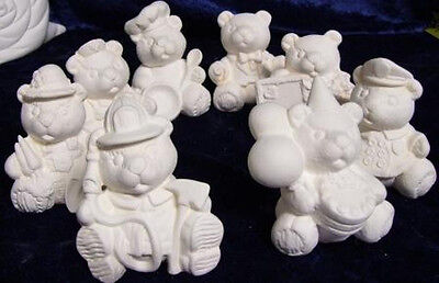 Ceramic Bisque Ready to Paint Bears x 8