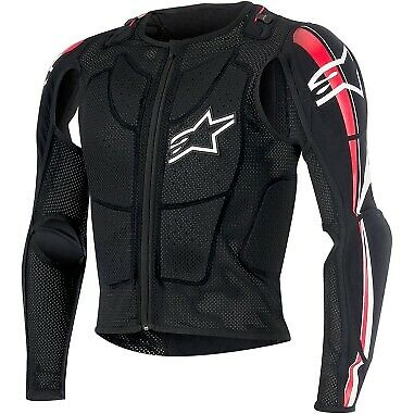 Alpinestars Black Bionic Plus Body Armor MX Jacket (S-2XL)