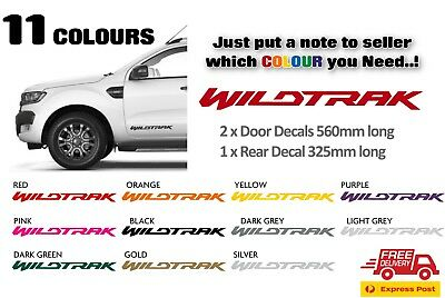 WILDTRAK Ranger ford Graphic Decal Sticker set - Choice of 11 Colours FREE POST