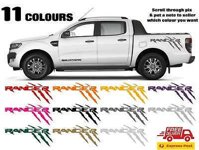 Wildtrak Ranger ford Graphic Decal - Choice of 11 Colours FREE POST