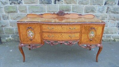Fine Quality Antique Satinwood & Painted Sideboard