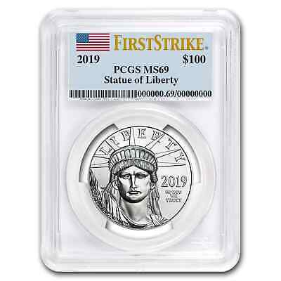 2019 1 oz Platinum American Eagle MS-69 PCGS (First Strike) - SKU#171851