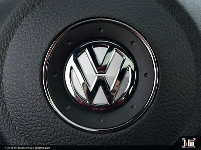 VW Front Badge Insert Oryx White Pearl