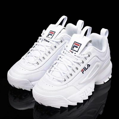 FILA Disruptor White/Black Women's Fashion Athletic Shoes Sneakers EU Size 36-44