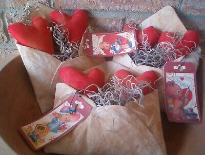 Primitive Valentine love letters envelopes bowl fillers