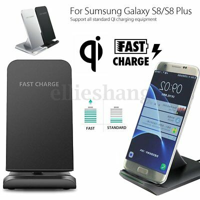 Fast Charging for Samsung Wireless Charger S6 S7 Edge S8+ Stand Holder Pad LOT A